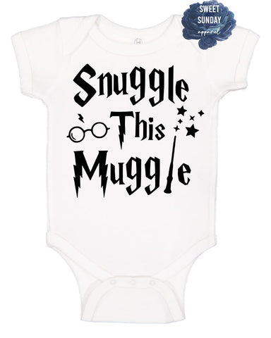 Snuggle this Muggle White Infant Onesie