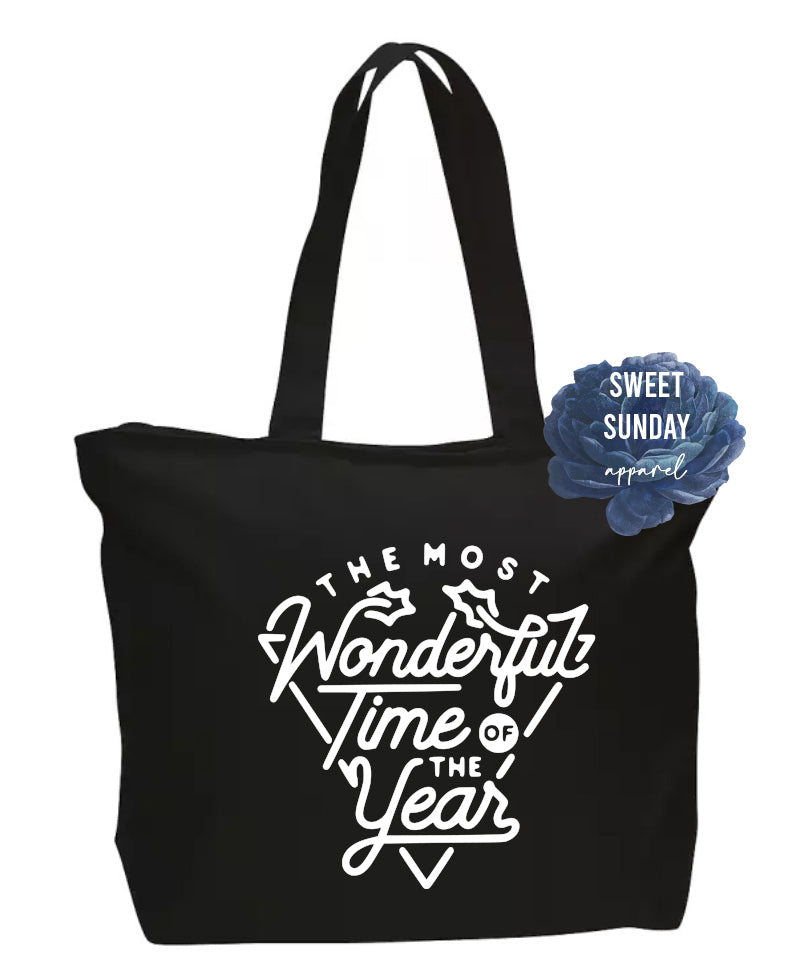 The Most Wonderful Time Of The Year Zippered Tote
