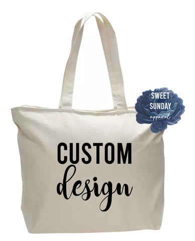 CUSTOM Zippered Tote