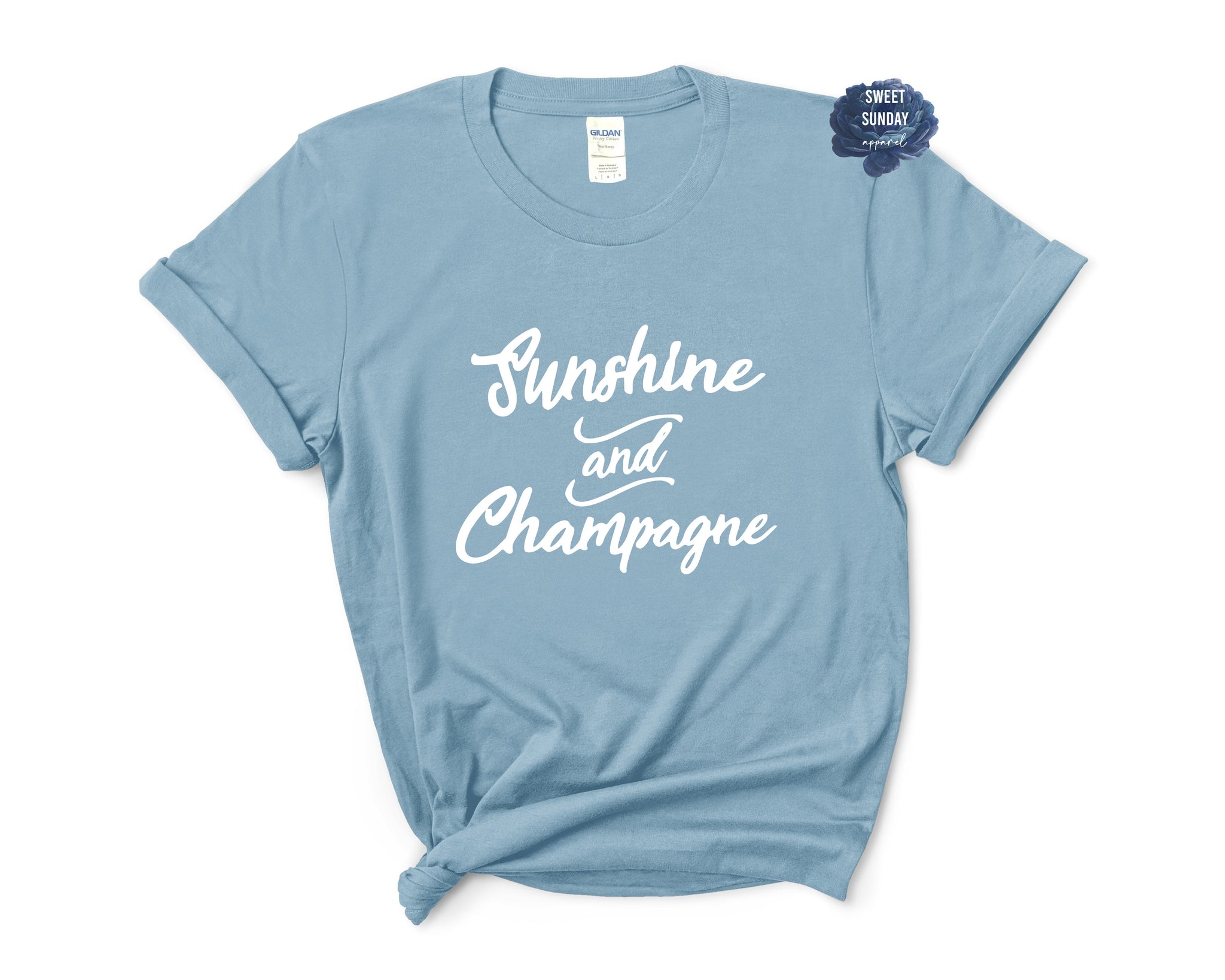 Sunshine And Champagne Relaxed Fit Tee