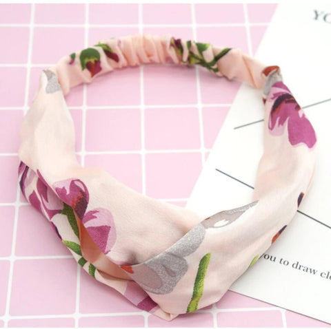 Light Pink Floral Headband