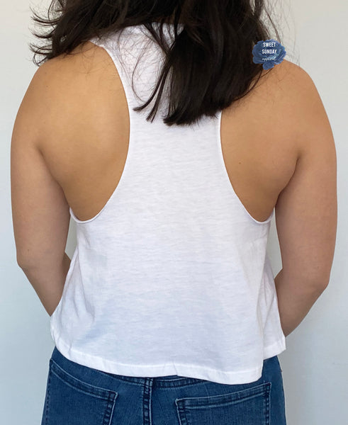 Hold On Let Me Overthink This Cropped Racerback