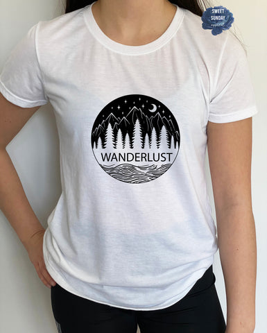 Wanderlust Fitted Tee