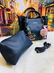 2 Pcs Flower Hand Bag for Women-Export Fit