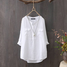 Load image into Gallery viewer, Women Buttons Casual Pocket Shirt Kurta