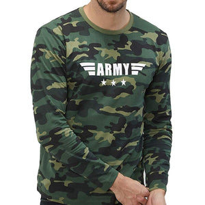 Army Camo Full Sleeves T-Shirt For Mens-Export Fit