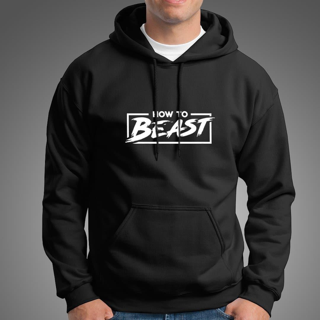 Beast Gym Fitness Black Hoodie For Mens-Export Fit
