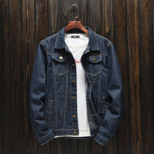Load image into Gallery viewer, Blue Denim Jacket For Men-Export Fit