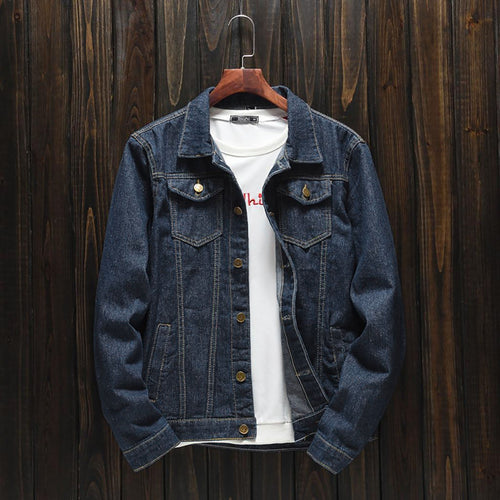 Blue Denim Jacket For Men-Export Fit