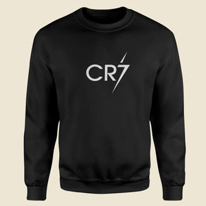 Cristiano Ronaldo Football Black Sweatshirt-Export Fit