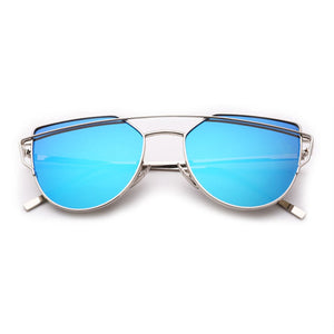 Gentle Monster Love Punch Cat Eye Metal Frame Sunglasses-Export Fit