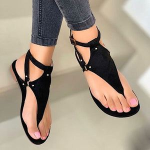 Fancy Flat Heel Cross Straps Ladies Sandal