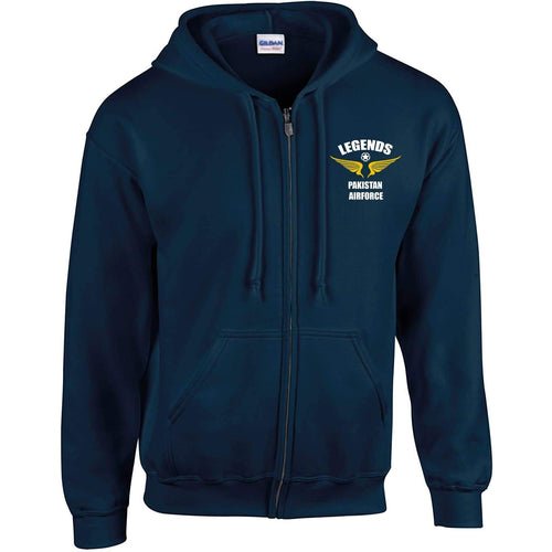 Legends Pakistan Airforce Zipper Hoodie-Export Fit