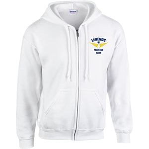 Legends Pakistan Navy Zipper Hoodie-Export Fit