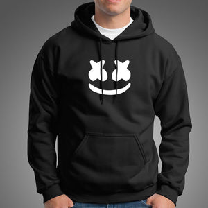 MARSHMELLO White Hoodie For Mens-Export Fit