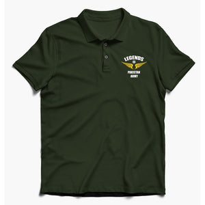 Pakistan Army Green Polo Shirt For Men-Export Fit