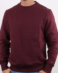 Plain Maroon Sweatshirt For Men-Export Fit