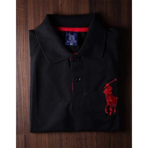 RL Black Polo Shirt For Men-Export Fit