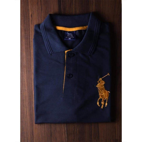 RL Blue Polo Shirt For Men-Export Fit