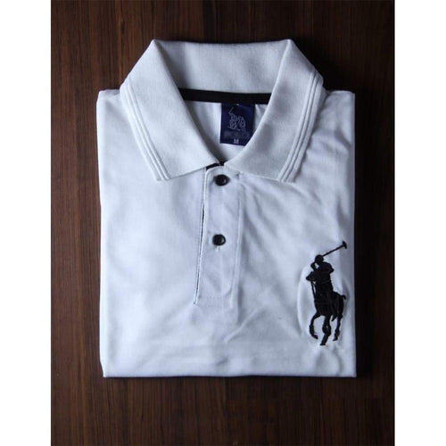 RL White Polo Shirt For Men-Export Fit