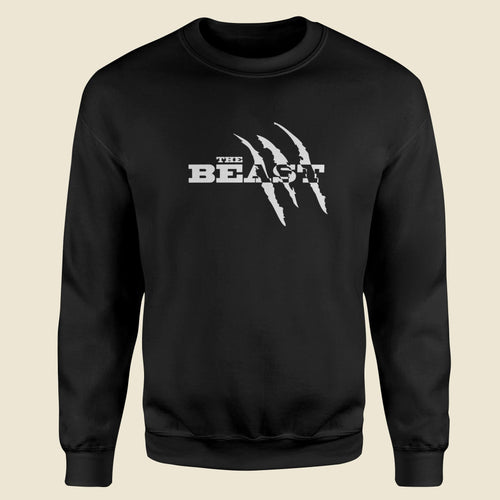The Beast Gym Fitness Black Sweatshirt-Export Fit