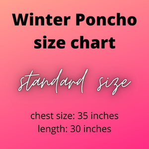 Winter Poncho For Girls-Export Fit