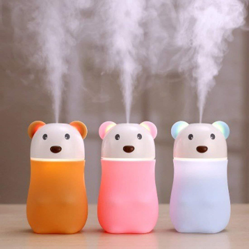 USB Lovely Bear Humidifier, Air Diffuser Freshener with LED Night Light
