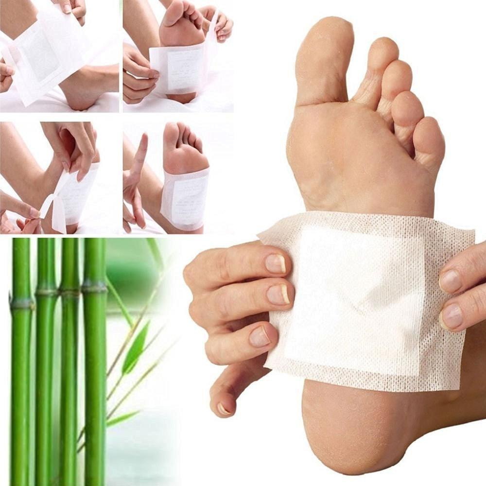 Detox Foot Pads, Ginger & salt Foot Patch -10pcs (Free Size, White)