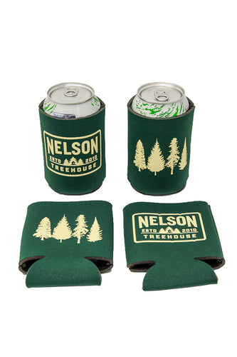 Super Deal - 4 for $5 Nelson Treehouse Koozie - Green