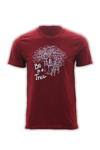 Be In A Tree T-Shirt - Burgundy