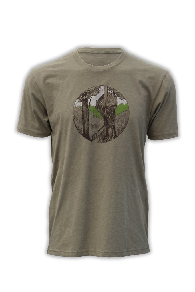 Beehive Treehouse T-Shirt - Green