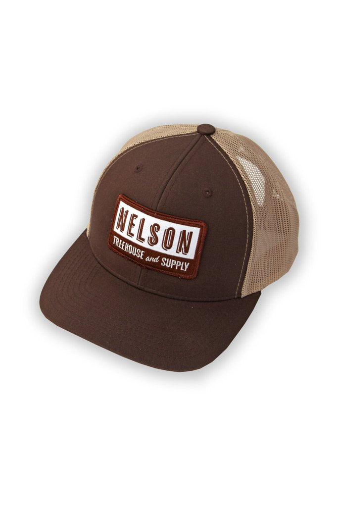 Snapback Hat with Patch - Brown
