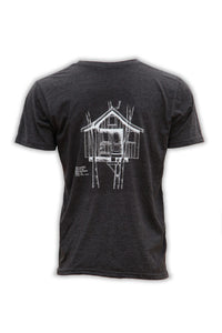 Texas Spa Treehouse T-Shirt - Heather Black