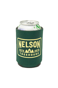 Nelson Treehouse Koozie - Green