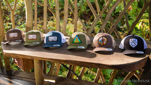 Snapback Hat with To The Trees Patch - Moss Green