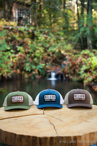 Snapback Hat with Patch - Moss Green
