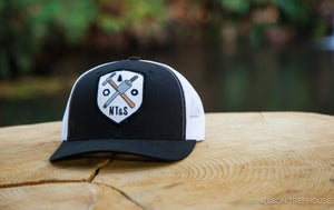 Snapback Hat with TAB Patch - Black