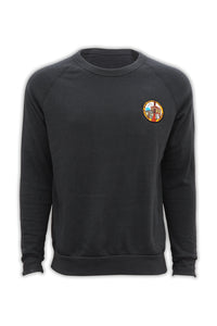 Crew Neck with Temple Patch - Black