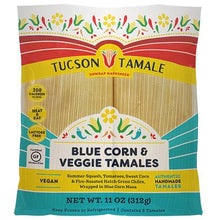Load image into Gallery viewer, vegan blue corn and veggie tamale