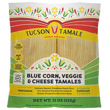 Load image into Gallery viewer, Blue Corn Veggie & Cheese tamale
