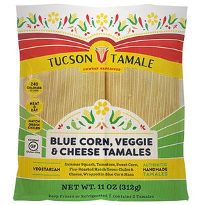 Blue Corn Veggie & Cheese tamale