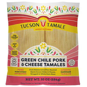 green chile pork and cheese tamales
