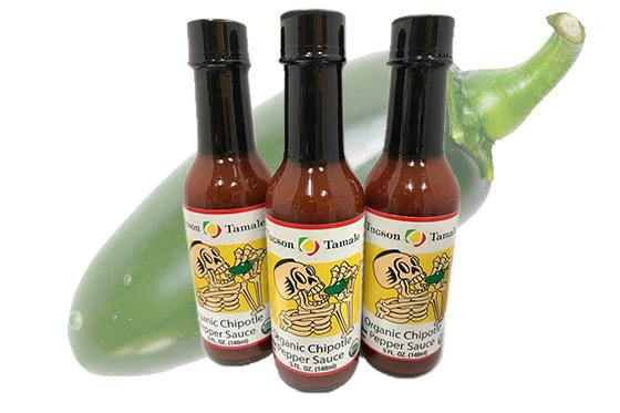 Organic chipotle pepper hot sauce