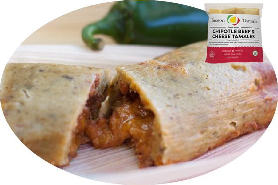 chipotle beef and cheese tamales