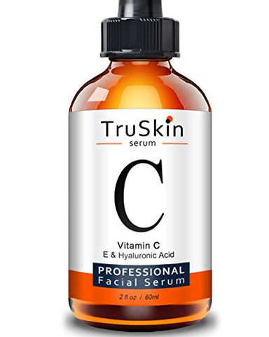 TruSkin Vitamin C Serum for Face with Hyaluronic Acid, Vitamin E, Witch Hazel, Large Bottle 2 fl oz