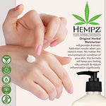 Hempz Original, Natural Hemp Seed Oil Body Moisturizer with Shea Butter and Ginseng, 17 Fl Oz, 2 Pack Bundle - Pure Herbal Skin Lotion for Dryness - Nourishing Vegan Body Cream in Floral and Banana