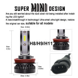 H7 LED Ultra Mini Car Lights Bulbs H8 H9 H11 Led H7 H1 Head Lamps Kit 9005 HB3 9006 HB4 Auto 12V led Fog Lamps Head light