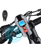 Waterproof Bicycle Light USB Charging Bike Front Light Flashlight Handlebar Cycling Head Light w/ Horn Speed Meter LCD Screen