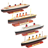 Scale Diecast France &Normandie &RMS Lusitania &RMS TITANNIC Steamship Cruise Ship Model Collection Kid Toys Gift
