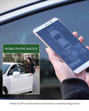 Smart phone sensor control car (Use APP) approaches the car to unlock, leaves the lock and outputs the original horn